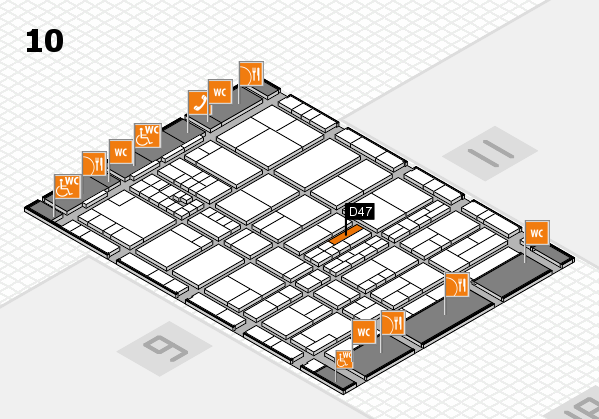 interpack 2017 hall map (Hall 10): stand D47
