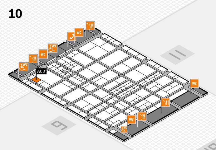 interpack 2017 Hallenplan (Halle 10): Stand A08