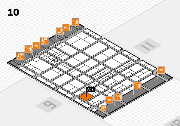 interpack 2017 hall map (Hall 10): stand A68