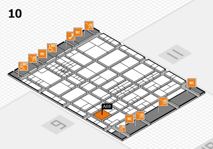 interpack 2017 Hallenplan (Halle 10): Stand A68