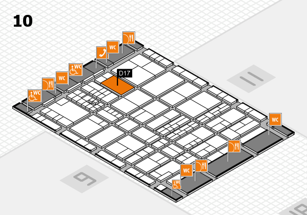 interpack 2017 hall map (Hall 10): stand D17