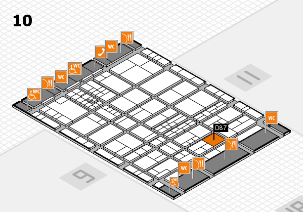 interpack 2017 hall map (Hall 10): stand D87
