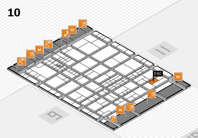 interpack 2017 Hallenplan (Halle 10): Stand E80