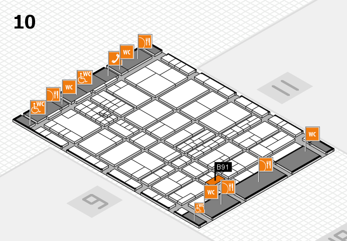 interpack 2017 hall map (Hall 10): stand B91