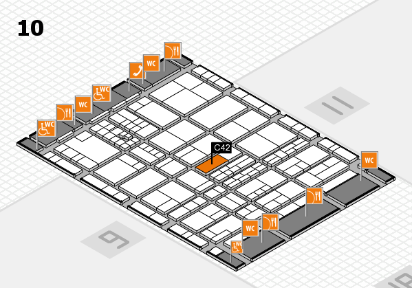 interpack 2017 hall map (Hall 10): stand C42