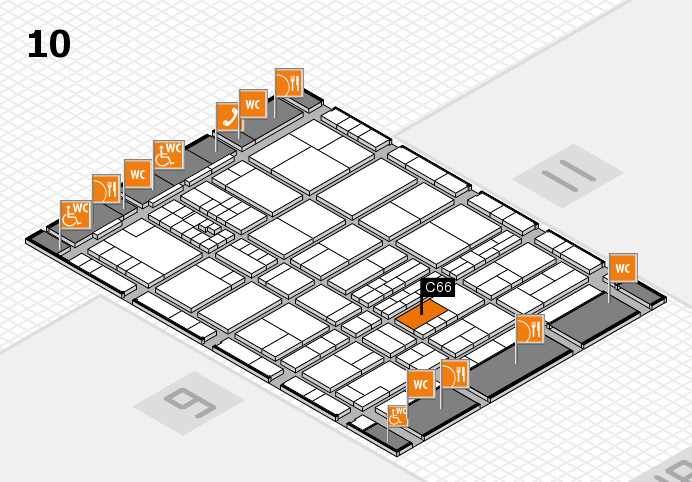 interpack 2017 hall map (Hall 10): stand C66