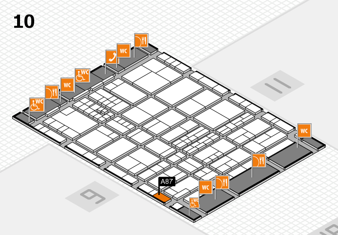 interpack 2017 hall map (Hall 10): stand A87