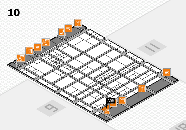 interpack 2017 hall map (Hall 10): stand A98
