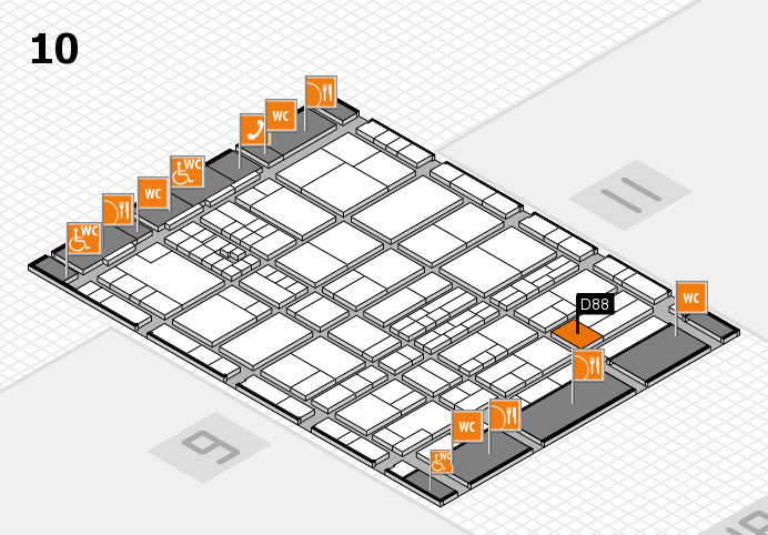 interpack 2017 hall map (Hall 10): stand D88
