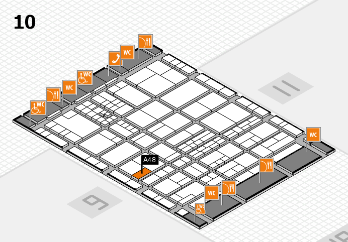 interpack 2017 hall map (Hall 10): stand A48