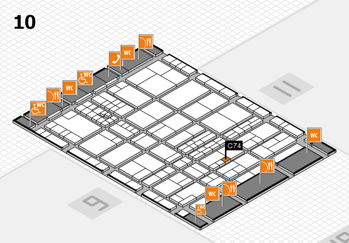 interpack 2017 hall map (Hall 10): stand C74