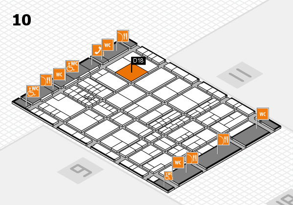 interpack 2017 hall map (Hall 10): stand D18