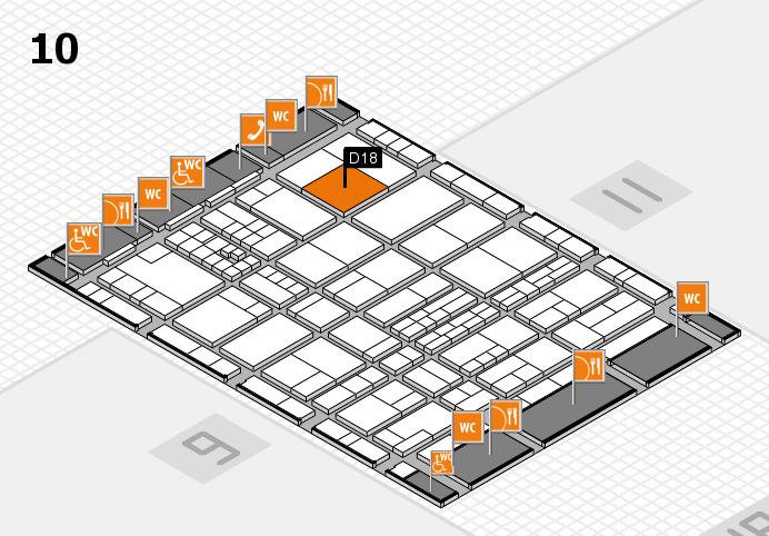 interpack 2017 Hallenplan (Halle 10): Stand D18