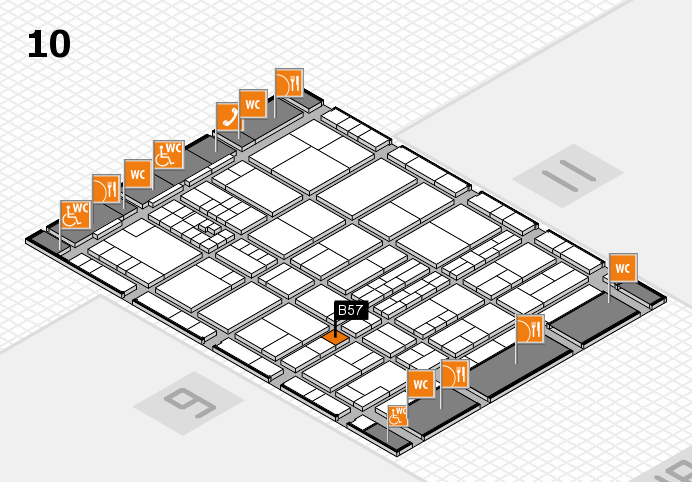 interpack 2017 hall map (Hall 10): stand B57