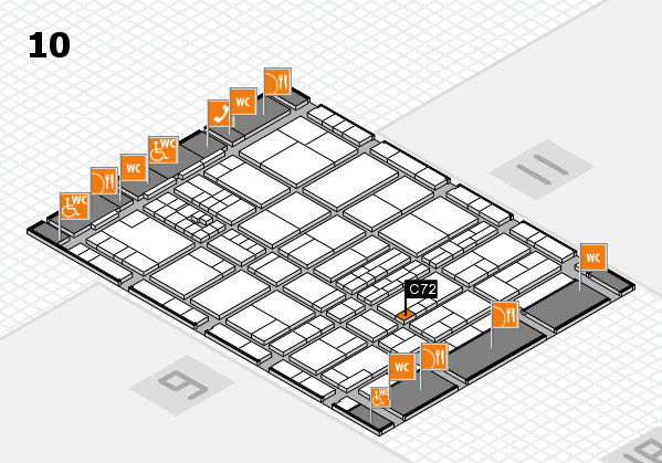 interpack 2017 hall map (Hall 10): stand C72