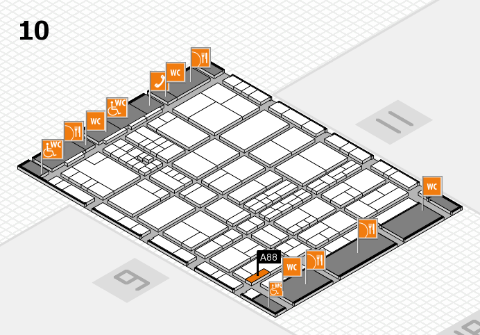 interpack 2017 hall map (Hall 10): stand A88