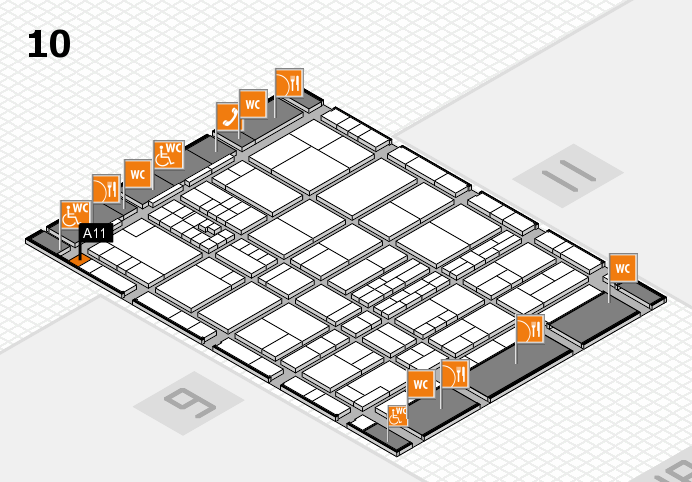interpack 2017 hall map (Hall 10): stand A11