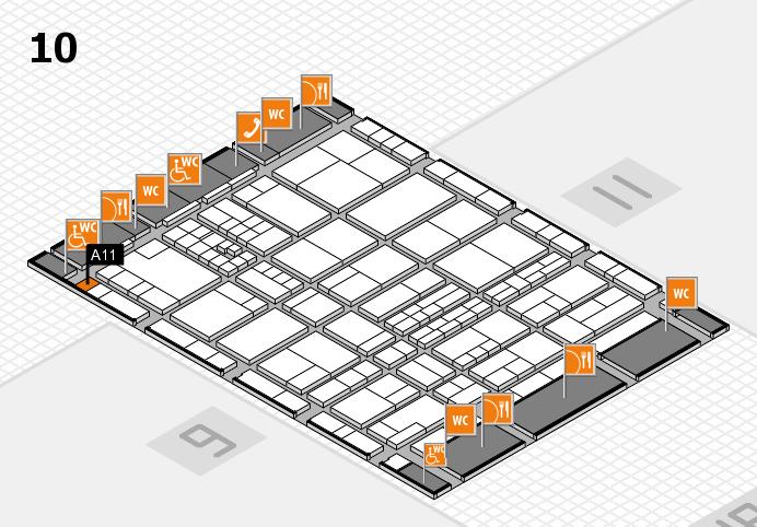 interpack 2017 Hallenplan (Halle 10): Stand A11