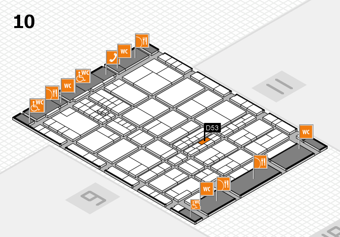 interpack 2017 hall map (Hall 10): stand D53