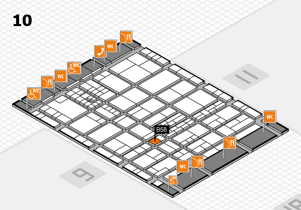 interpack 2017 hall map (Hall 10): stand B58