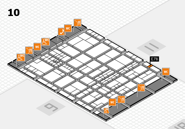 interpack 2017 hall map (Hall 10): stand E78