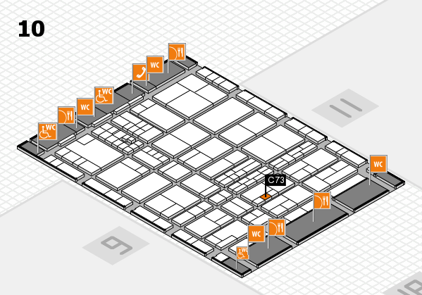 interpack 2017 hall map (Hall 10): stand C73