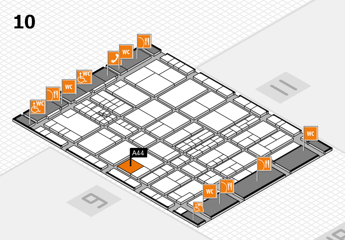 interpack 2017 hall map (Hall 10): stand A44