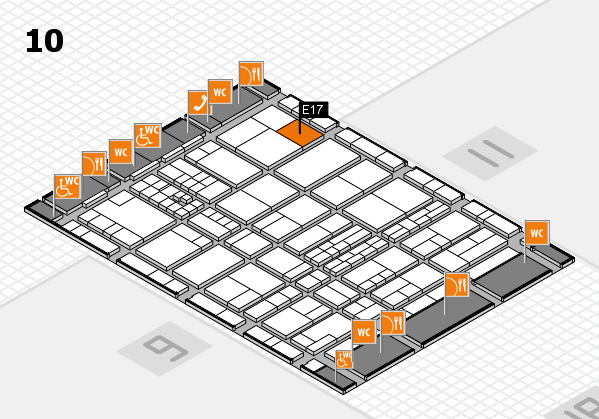 interpack 2017 hall map (Hall 10): stand E17