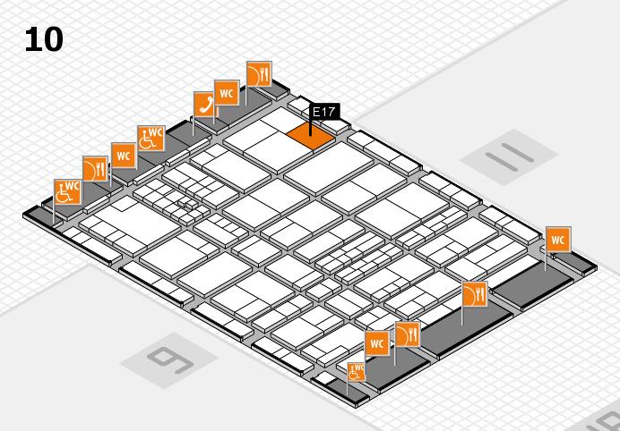 interpack 2017 Hallenplan (Halle 10): Stand E17