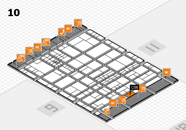interpack 2017 hall map (Hall 10): stand C98