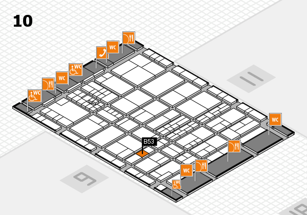 interpack 2017 hall map (Hall 10): stand B53