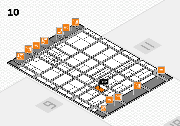 interpack 2017 hall map (Hall 10): stand B68
