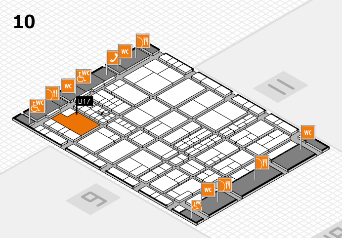 interpack 2017 hall map (Hall 10): stand B17