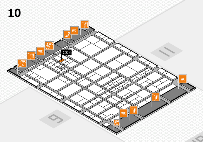 interpack 2017 hall map (Hall 10): stand C08