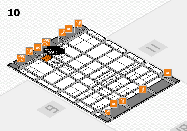 interpack 2017 hall map (Hall 10): stand B06-1, stand C07-5
