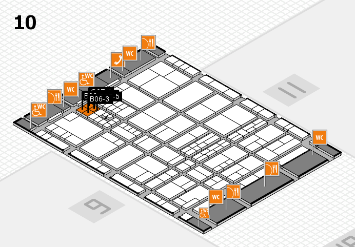 interpack 2017 hall map (Hall 10): stand B06.C07
