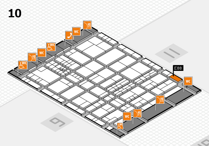 interpack 2017 hall map (Hall 10): stand E88