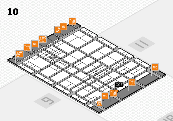 interpack 2017 hall map (Hall 10): stand C97