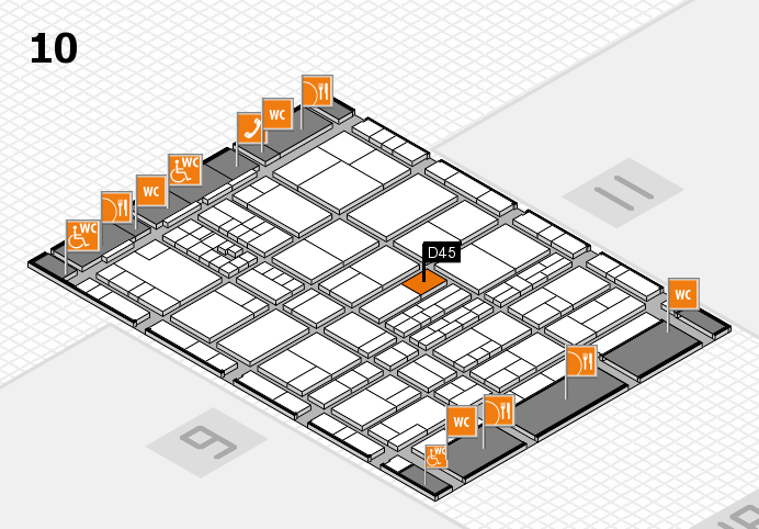 interpack 2017 hall map (Hall 10): stand D45