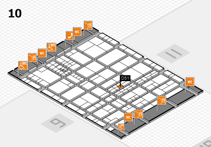interpack 2017 Hallenplan (Halle 10): Stand D51