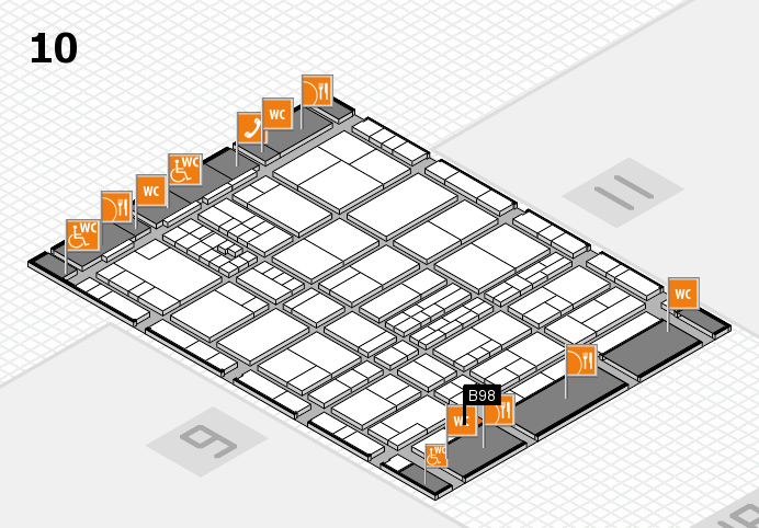 interpack 2017 hall map (Hall 10): stand B98