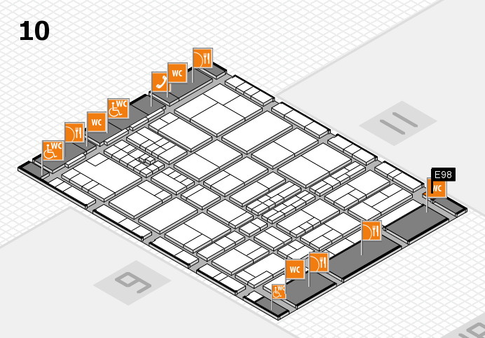 interpack 2017 hall map (Hall 10): stand E98