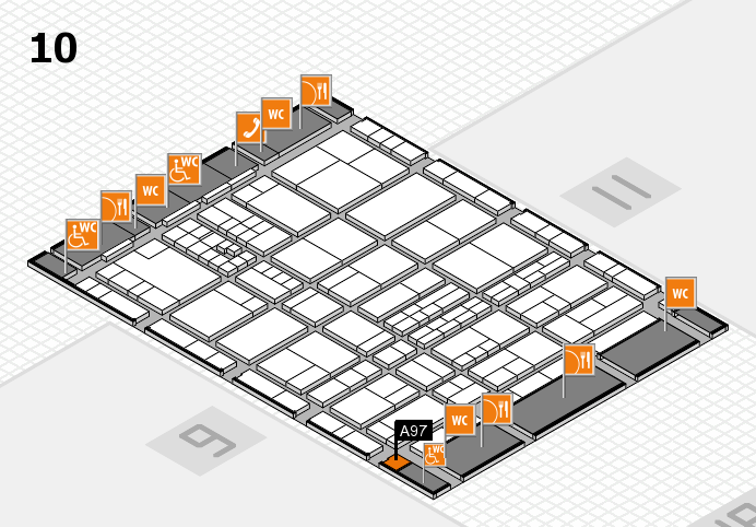 interpack 2017 hall map (Hall 10): stand A97