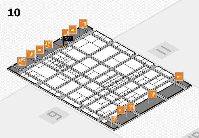 interpack 2017 hall map (Hall 10): stand D01