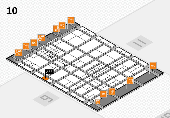 interpack 2017 hall map (Hall 10): stand A35