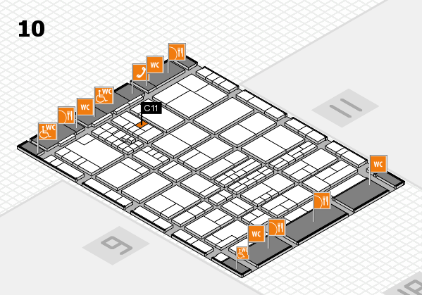 interpack 2017 hall map (Hall 10): stand C11