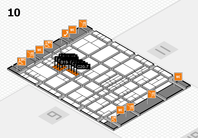 interpack 2017 hall map (Hall 10): stand B19, stand C20