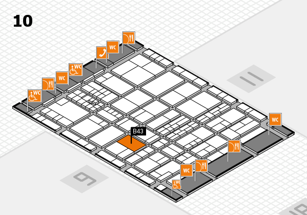 interpack 2017 hall map (Hall 10): stand B43