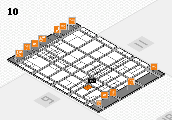 interpack 2017 hall map (Hall 10): stand B67