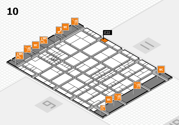 interpack 2017 hall map (Hall 10): stand E22